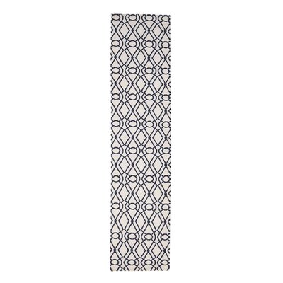 Reversible Durie Kilim Flat Weave Hand-Knotted Wool Ivory Area Rug