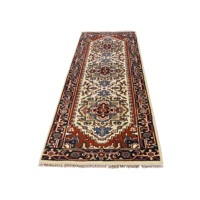 One-of-a-Kind Saltford Serapi Hand-Knotted Area Rug