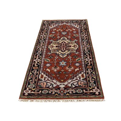 One-of-a-Kind Saltford Serapi Oriental Hand-Knotted Area Rug