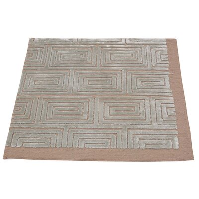 One-of-a-Kind Huggard Embossed Oriental Hand-Knotted Silk Area Rug