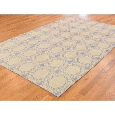 Taupe Reversible Kilim Flat Weave Hand-Knotted Gray Area Rug