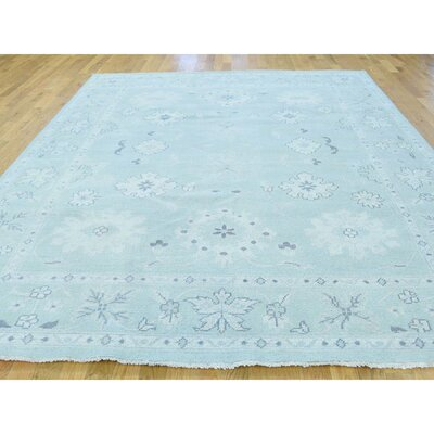 One-of-a-Kind Oceane Knot Oushak Cropped Hand-Knotted Area Rug