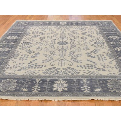 One-of-a-Kind Oceane Knot Oushak Oriental Hand-Knotted Area Rug