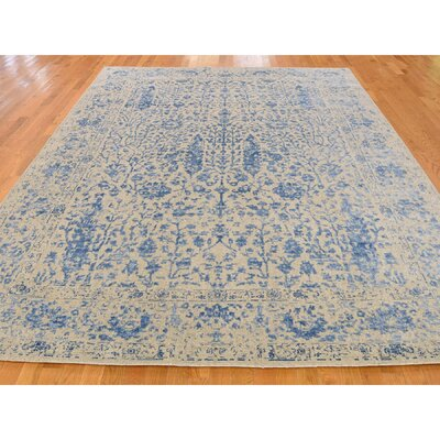 One-of-a-Kind Oriane Broken Oriental Hand-Knotted Silk Area Rug