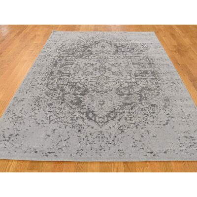 One-of-a-Kind Orobanche Broken Heriz Hand-Knotted Silk Area Rug