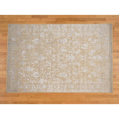 One-of-a-Kind Orobanche Broken Oriental Hand-Knotted Silk Area Rug