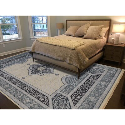 One-of-a-Kind Samons 300 Kpsi Hand-Knotted Silk Area Rug Rug Size: Rectangle 99 x 132