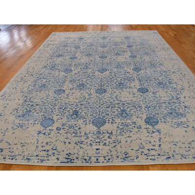 One-of-a-Kind Oriane Broken Hand-Knotted Silk Area Rug