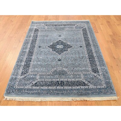 One-of-a-Kind Salzer Tone on Tone Oriental Hand-Knotted Silk Area Rug