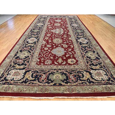 New Zealand Agra Special Gallery Hand-Knotted Red Area Rug