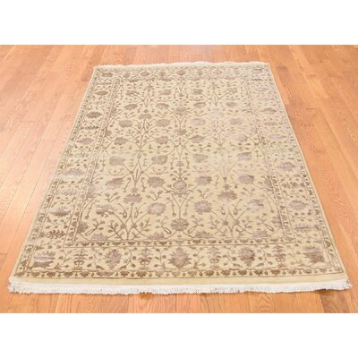 One-of-a-Kind Salzer Oriental Hand-Knotted Silk Area Rug