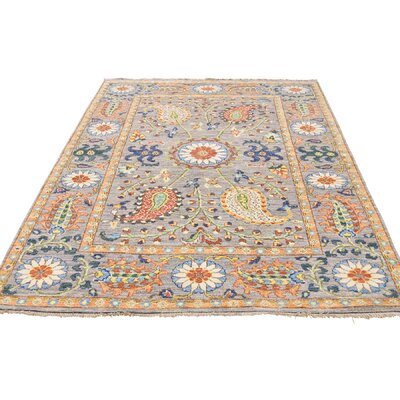 One-of-a-Kind Kells-Connor Suzani Oriental Hand-Knotted Area Rug