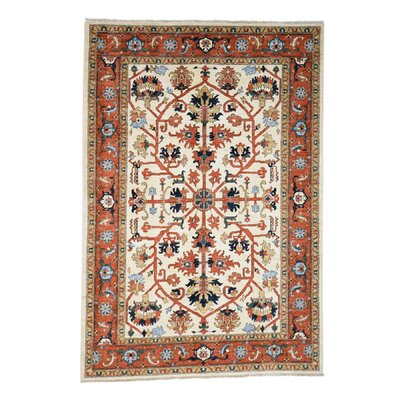 One-of-a-Kind Salvato Peshawar All-over Hand-Knotted Area Rug