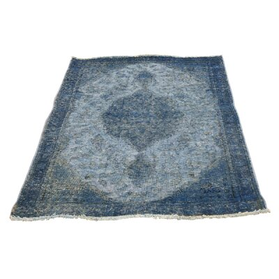 One-of-a-Kind Eddy Overdyed Worn Hand-Knotted Area Rug
