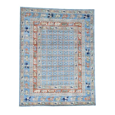 Pazyryk Historical Hand-Knotted Blue Area Rug Rug Size: Rectangle 4 x 63