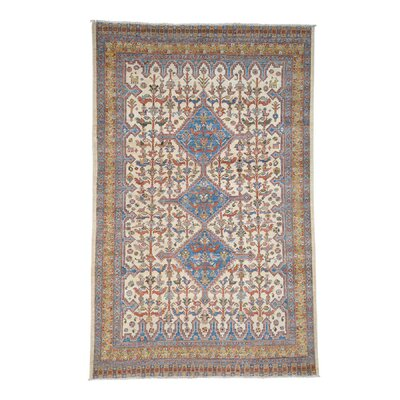 One-of-a-Kind Granillo Shiraz Birds Hand-Knotted Area Rug