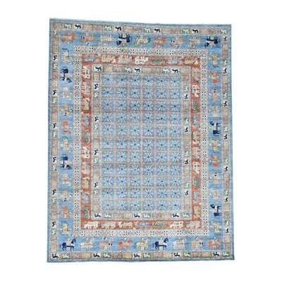 Pazyryk Historical Hand-Knotted Blue Area Rug Rug Size: Rectangle 5 x 76