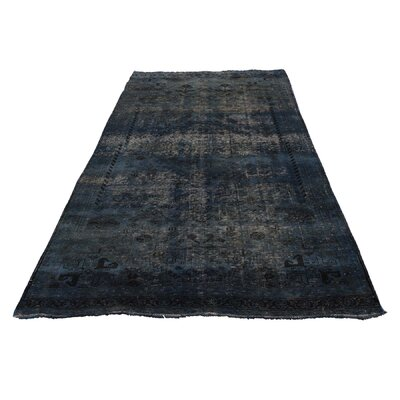 One-of-a-Kind Grasmere Overdyed Qashqai Worn Hand-Knotted Area Rug