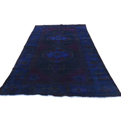 One-of-a-Kind Greenawalt Vintage Overdyed Worn Oriental Hand-Knotted Area Rug