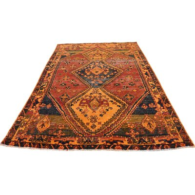 One-of-a-Kind Greenawalt Overdyed Qashqai Vintage Worn Hand-Knotted Area Rug