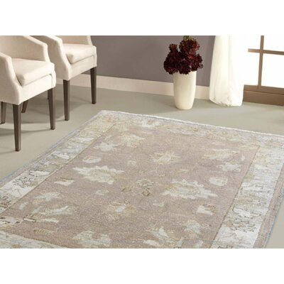 One-of-a-Kind Kensington Honey Brown Oriental Hand-Knotted Area Rug