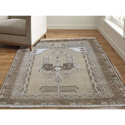 One-of-a-Kind Gracey Baluch Natural Oriental Hand-Knotted Area Rug