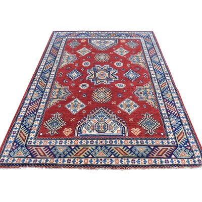 One-of-a-Kind Tillett Special Geometric Oriental Hand-Knotted Area Rug
