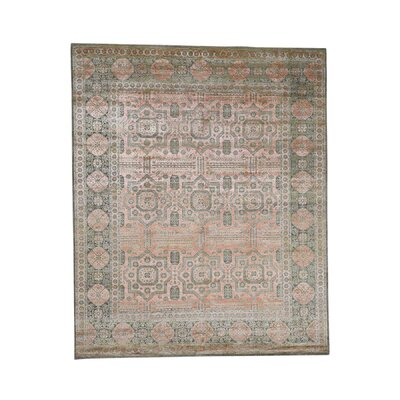 One-of-a-Kind Gowdy Oidized Pre Historical Hand-Knotted Silk Area Rug