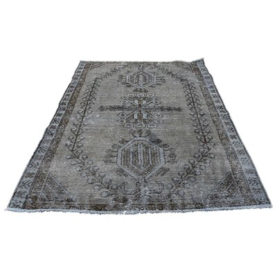 One-of-a-Kind Gracey Vintage Overdyed Hamadan Oriental Hand-Knotted Area Rug
