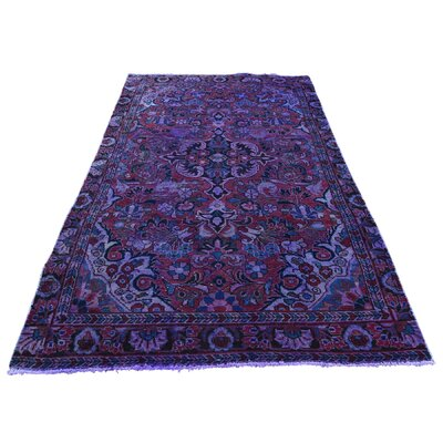 One-of-a-Kind Gracey Vintage Overdyed Lilahan Oriental Hand-Knotted Area Rug