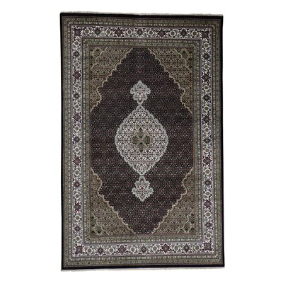 One-of-a-Kind Salmons Mahi 250 Kpsi Oriental Hand-Knotted Silk Area Rug