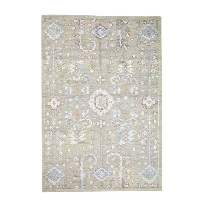 One-of-a-Kind Kennard High and Low Oriental Hand-Knotted Silk Area Rug