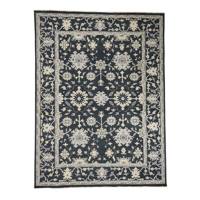 One-of-a-Kind Oritz Knot Oushak Oriental Hand-Knotted Area Rug