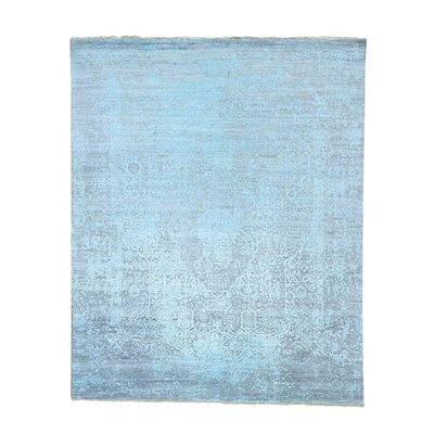 One-of-a-Kind MaryLou Broken Oriental Hand-Knotted Silk Area Rug