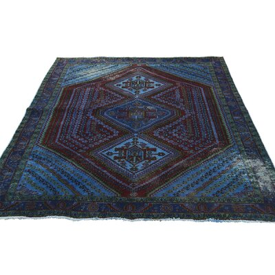 One-of-a-Kind Govan Overdyed Qashqai Vintage Worn Hand-Knotted Area Rug