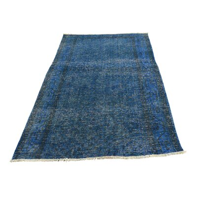 One-of-a-Kind Greenawalt Vintage Overdyed Sarouk Mir Fragment Hand-Knotted Silk Area Rug