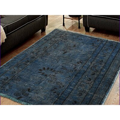 One-of-a-Kind Edford Pair of Vintage Overdyed Fragments Hand-Knotted Area Rug Rug Size: Rectangle 18 x 26