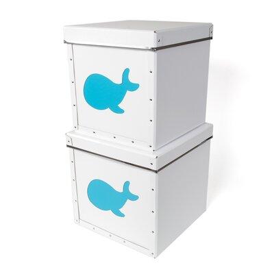 Whale Wood Box (Set of 4) 342204801PB2