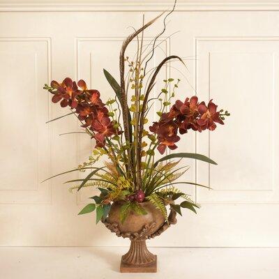 Vanda Orchid Silk Flower Floral Arrangement in Decorative Vase 16C8E8BBA3C54469BA3E05B399D55E32