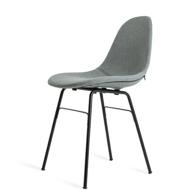 Castillo Upholstered Dining Chair Upholstery Color: Gray