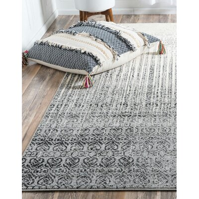 Dungan Gray Area Rug Rug Size: Rectangle 5 x 8