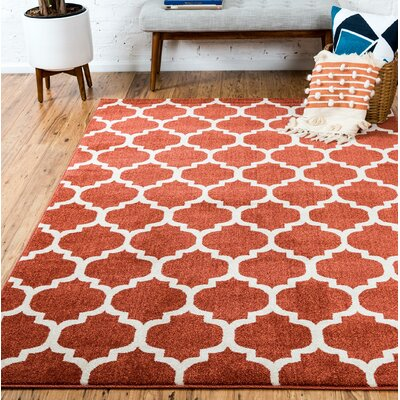 Moore Rust Area Rug Rug Size: Rectangle 4 x 6
