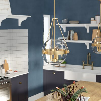Karle 3-Light Globe Pendant Finish: Liberty Gold