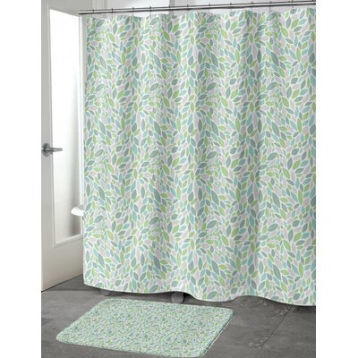 Todaro Shower Curtain Color: Green/Purple, Size: 70 H x 90 W