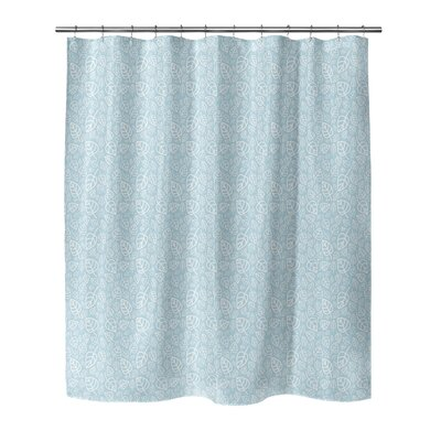 Decarlo Shower Curtain Color: Blue, Size: 70 H x 72 W