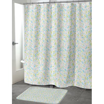 Todaro Shower Curtain Color: Pink/Green, Size: 70 H x 72 W