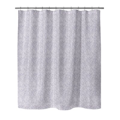 Decarlo Shower Curtain Color: Purple, Size: 70 H x 72 W