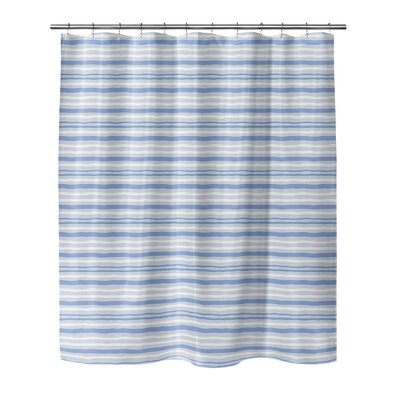 Evins Shower Curtain Color: Blue, Size: 70 H x 90 W