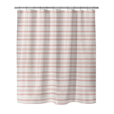 Evins Shower Curtain Color: Coral, Size: 70 H x 90 W
