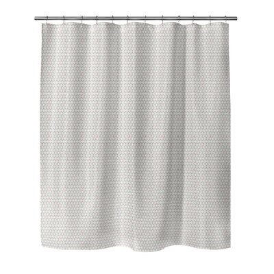 South Venice Shower Curtain Color: Cora, Size: 70 H x 72 W